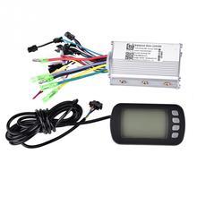 36 В/48 в 350 Вт бесщеточный контроллер для электрического велосипеда с ЖК-панелью, цифровой манометр, набор для электровелосипеда, скутера