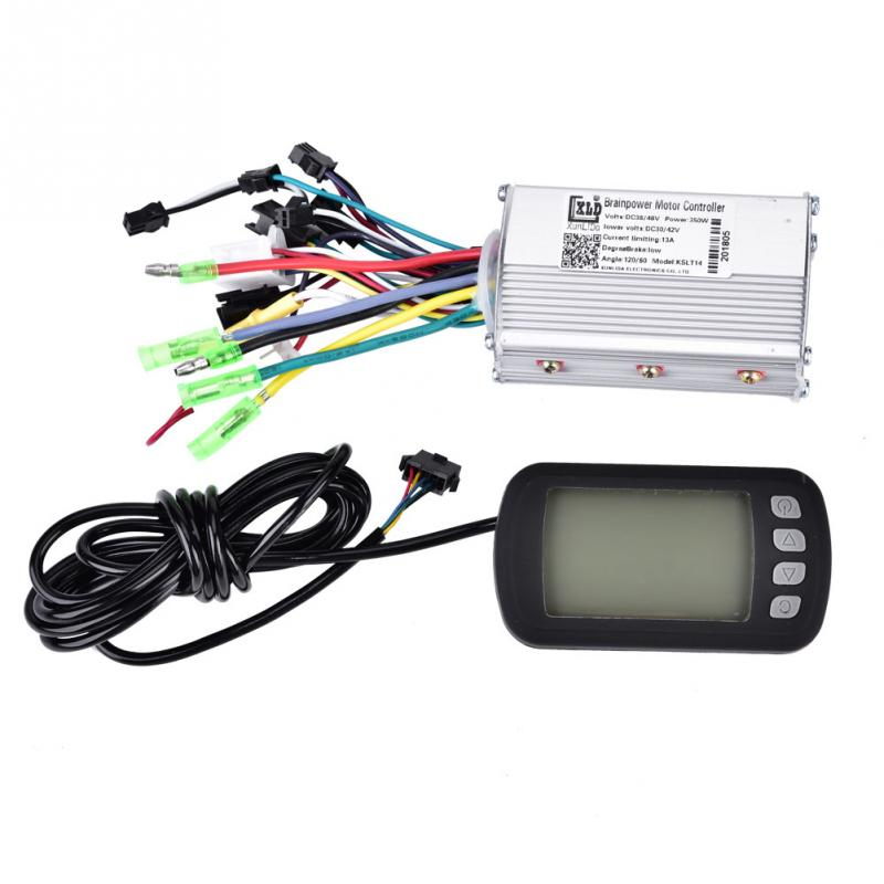 36V/48V 350W Brushless Electric Bicycle Controller with LCD Panel Meter Digital Gauge Set for E-bike Electric Bike Scooter