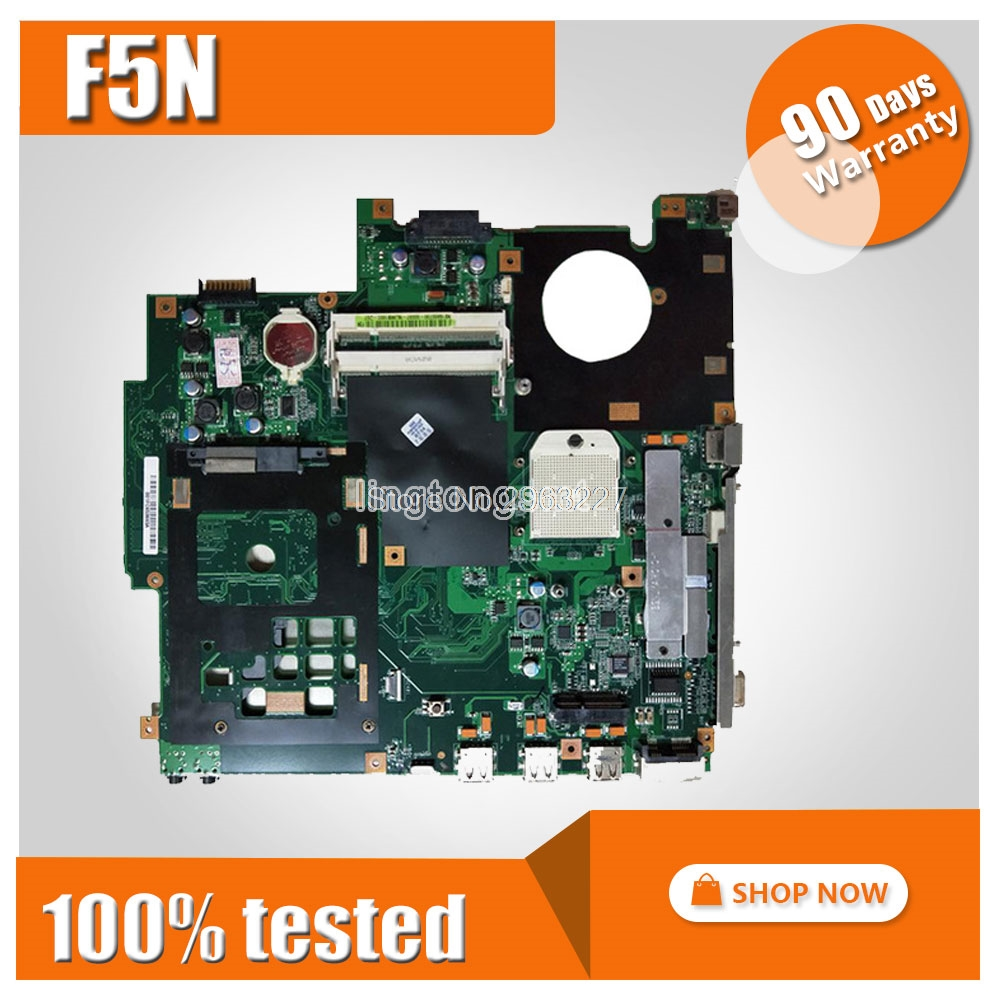 F5N Motherboard DDR2 For ASUS X50N F5N Laptop motherboard F5N Mainboard F5N Motherboard test 100% OK cs8416 cs4398 dac diy kit with usb coaxial 24 192k decoder kit ac15v 32k 192k 24bit for hifi amplifier