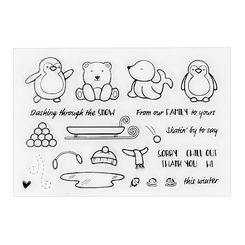 2017 new Animals Family Transparent Clear Stamp Seel for DIY Photo Album Scrapbooking Card Making Hand Accunt Decor Supplies. lovely animals and ballon design transparent clear silicone stamp for diy scrapbooking photo album clear stamp cl 278