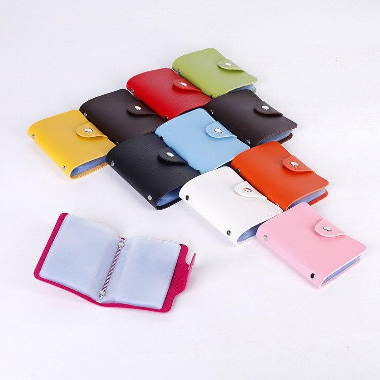 24 Bits Credit Kaarthouder Mannen Vrouwen Voor Cover Op Case Vrouwelijke Mannelijke Bag Purse Pocket Porte Carte Kaarthouder Brede VariëTeiten