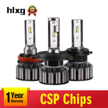 hlxg Mini H1 LED Automobiles H4 High Low Beam Car Light 72w/pair 8000LM H7 Led H3 12V 9005 9006 HB4 HB3 H11 H8 Headlamp 6000k(China)
