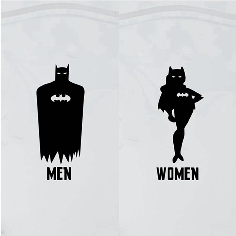 Porte Des Toilettes De Bande Dessin 233 E Autocollants Batman
