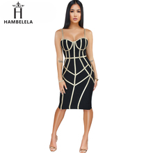 HAMBELELA 2019 New Women's Summer Fitness Party Dresses Green Black Red Stripe S