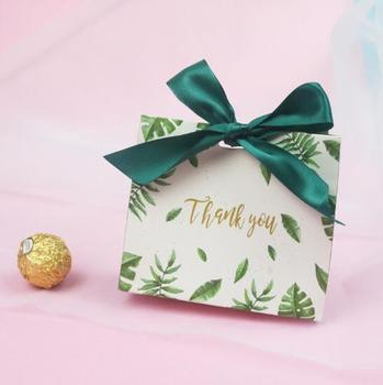 100pcs New Creative Gift Box, Candy Box, Foreset series Candy Box, Wedding Gift, Wedding Candy Bag size 11.5*10*4.5cm