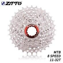 Велосипедная кассета ZTTO, 8 скоростей, 11-32T, горный велосипед, 8 скоростей, сталь, 8 s, 8v, K7, маховик свободного хода, детали велосипеда для M410, M360, ...