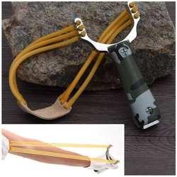 Мощный Sling Shot алюминиевый сплав Рогатка камуфляж катапульта типа лука Открытый Охота стрельба Рогатка