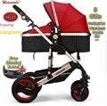 Wiselone Роскошная детская коляска 2 в 1 высокая Ландшафтная коляска портативная складная детская коляска дешевле детская коляска