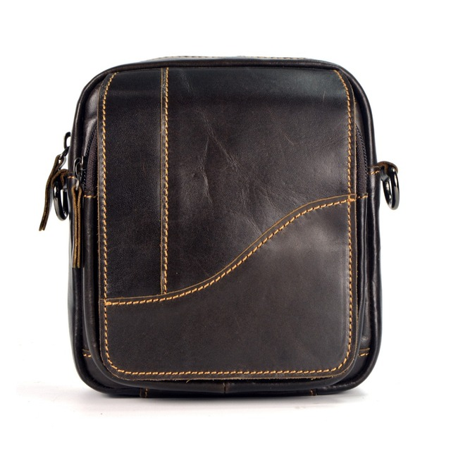 New fashion famous designer genuine leather men messenger bag casual travel  camera shoulder bags for men waist packs a80035c1b9