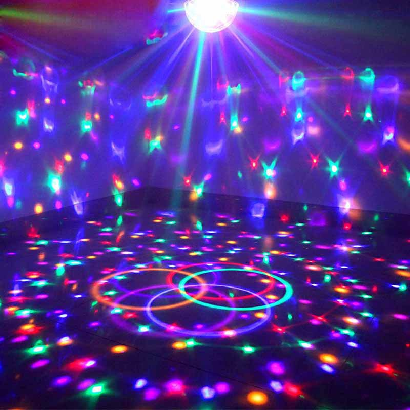 Upgrades Crystal Magic Ball Led Stage Lamp 7 Voice Control Modes 9 Colors Stage Lighting Disco