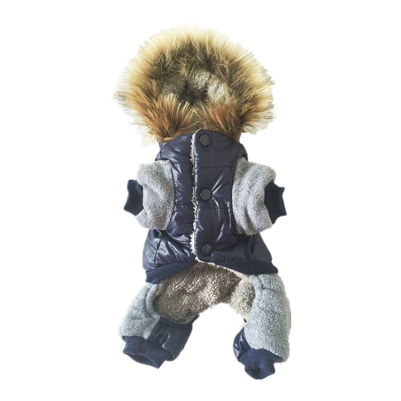 New Thickening Warm Jacket Winter Dog Clothes Pet Coat Clothing Hooded Jumpsuit Warm Clothes For Dogs