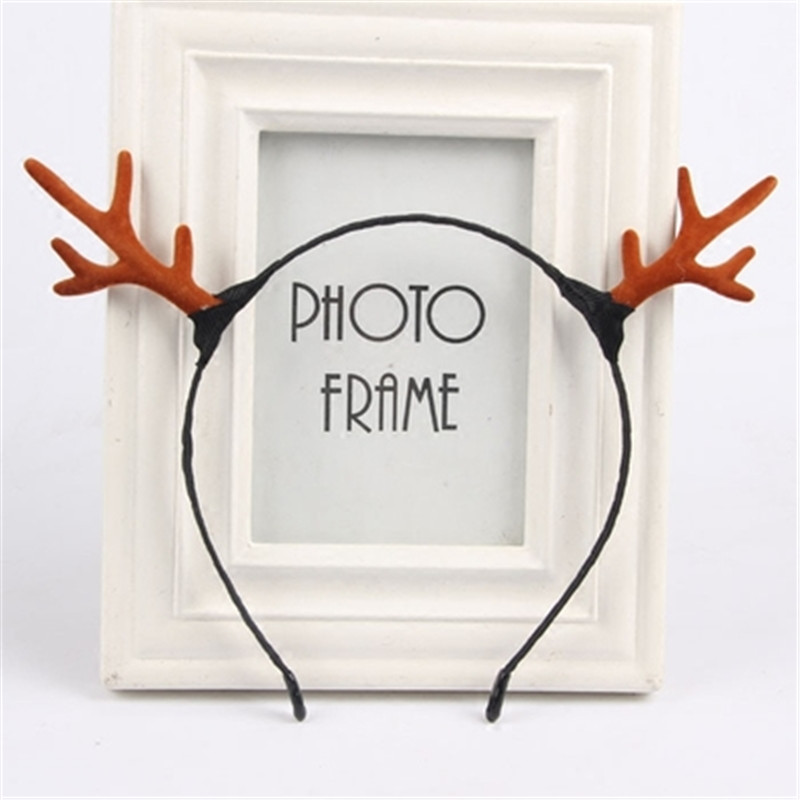 Newest Arrivals Antlers Reindeer Headband Christmas Elk Hair Band Headband Accessories Hair Clasp Fancy Dress Up Cosplay Party