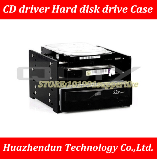 DEBROGLIE  transparent/black Acrylic  HDD hard disk drives Cage and CD-ROM Cage e mu cd rom