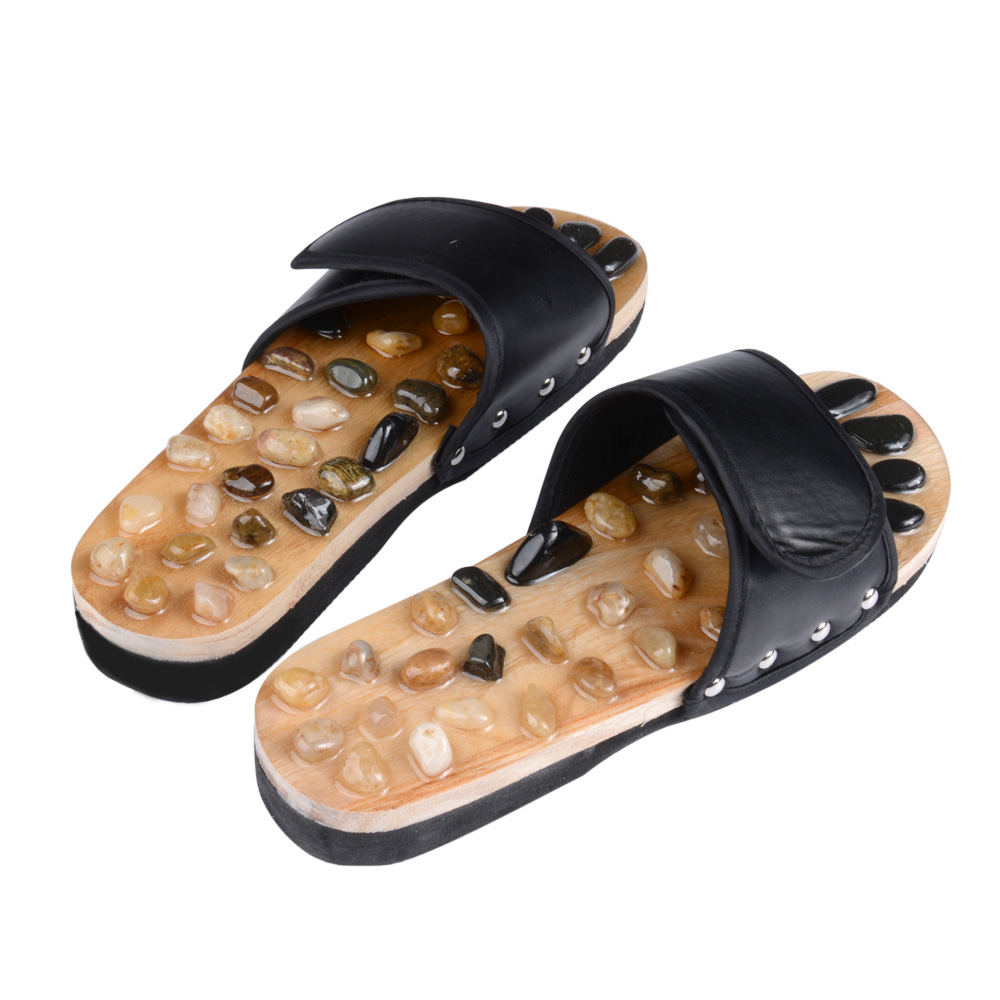 Foot Massage Slippers With Pebble Stone Reflexology Health
