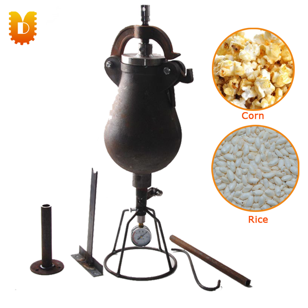 1.5kg/time Hand Popcorn Maker Corn Maize-Popping Machine Rice Puffed Machine/Popcorn Popper household small manual corn sheller hand maize thresher machine