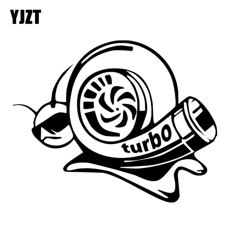 YJZT 17.8CM*14.1CM Vinyl Decal Funny Car Sticker Turbo Super Snail Black Silver C10-00965