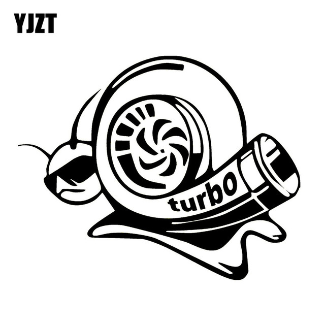 Yjzt 17 8cm14 1cm Vinyl Decal Funny Car Sticker Turbo Super Snail