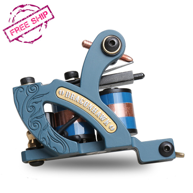 newest professional coloring machine tattoo machine10 wrap coils