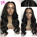 Brazilian Virgin Body Wave Lace Front Human Hair Wigs For Black Women 130% Density Front Lace Wigs With Baby Hair Bleached Knots