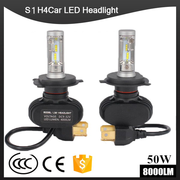 S1 Headlights H1/H3/H4/H7/H11/H13/9005/9006 9004 9007 9012 880 881 LED Car Headlight Bulb 50W 8000LM 6500K Auto Led Headlamp12v