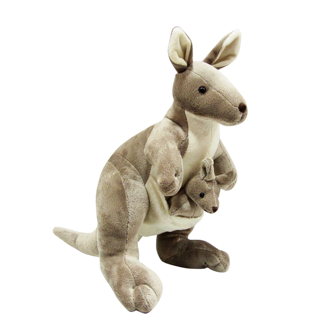 Large Kangaroo Plush Toys Kids Stuffed Animals Baby Soft Toys Plush