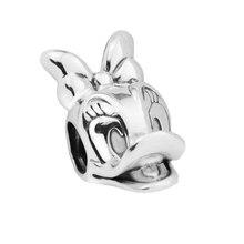 Fits Pandora Bracelet Female daisy silver charm Original 100% O925 sterling silver jewelry thread charms DIY bead free shipping