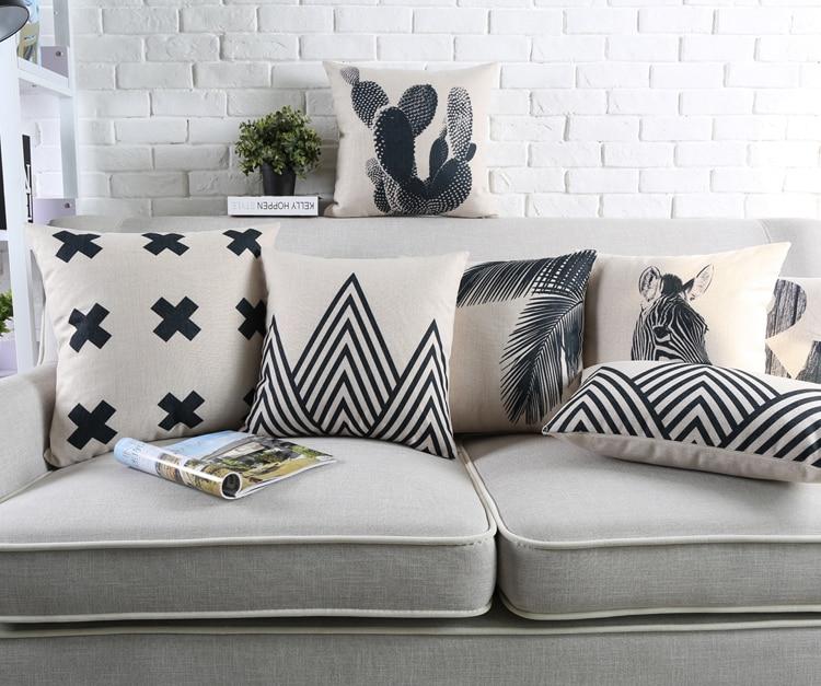 Genial Cactus Pillow Case Decorative Cushion Cover Zebra Black And White Geometric Palm  Tree Pineapple Decor Throw