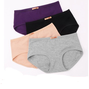 Image 3 - 5 ชิ้น/ล็อตสุภาพสตรีชุดชั้นในผู้หญิง plus ขนาดผ้าฝ้าย 100% กางเกงเอวกลาง 100% ผ้าฝ้ายหญิงกางเกง Intimates