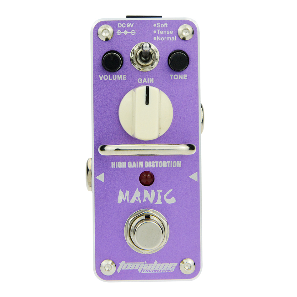 AROMA AMC-3 MANIC High Gain Distortion Pedal Mini Analogue Effects with True Bypass Design amc 908518 amc головка цилиндра