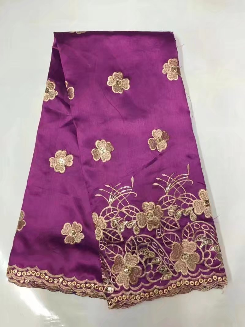 purple hot pink latest african george lace fabric 2017hot sales nigerian george lace fabric for sewing fashion wedding dress