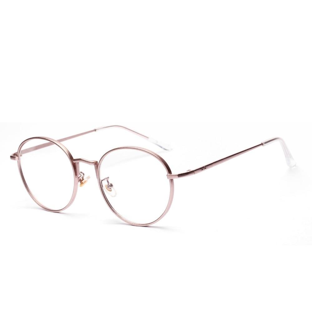 Eyeglasses frames in style - New Super Star Fashion Style Vintage Round Glasses Frame For Mens Rose Gold Clear Glasses Women