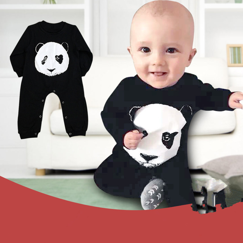 89a8fb47f Long Sleeve Baby Romper Panda Baby Jumpsuit New Born Baby Boy ...