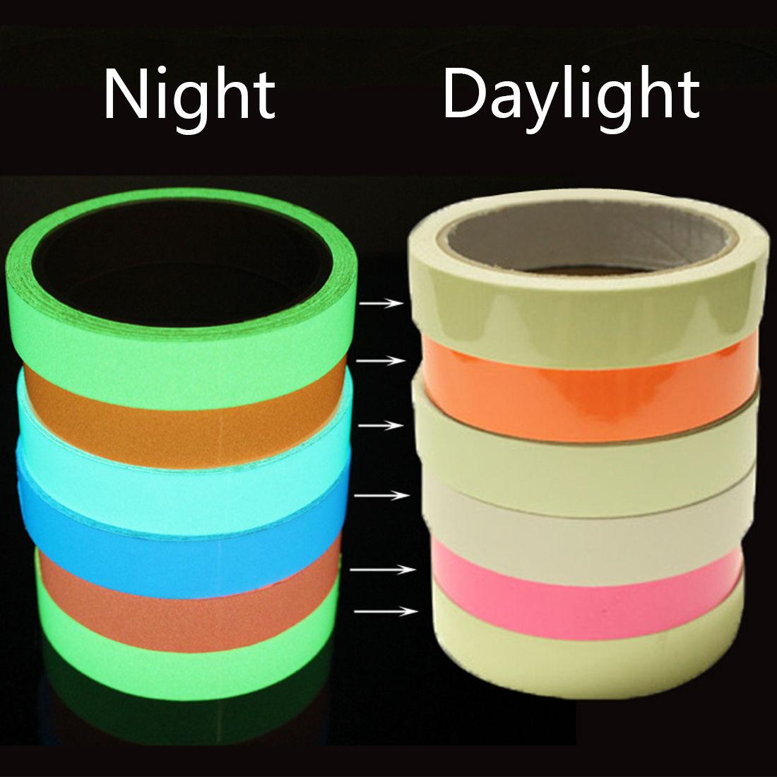 5cm*3m Safety Mark Reflective Tape Stickers Car-styling Self Adhesive Warning Tape Automobiles Motorcycle Reflective Film Promoting Health And Curing Diseases Reflective Material