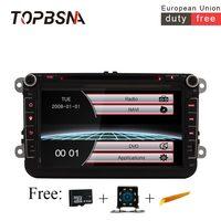 TOPBSNA 8 дюймов 2 din автомобильное радио для машины dvd плеер для Volkswagen Гольф PASSAT B6 touareg T5 passat B6 sharan сиденья gps навигации FM