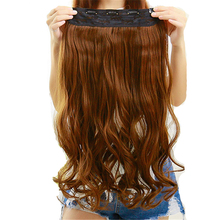 Feibin Hair Extension Clip In Synthetic Hair Piece Long 60cm 24 inches Heat Resistant no49 Free Shipping