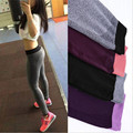 S-XL 4 Colors Women Leggings Elastic Comfortable High Waist Surper Stretch Workout Trousers Leggings Women 4 Quarter 659