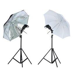 Viltrox photo studio kit de iluminação 1.9 m tripé suporte de luz + flash suporte + 33 33 umbrella macio preto prata reflexivo guarda-chuva