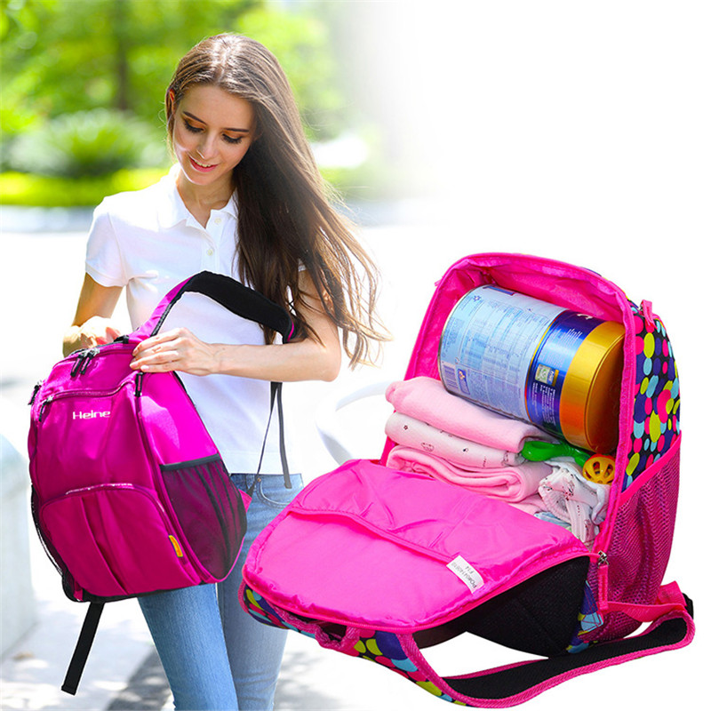 Brand New Multifunctional Mummy Packback Stor Kapasitet Shoulder Diaper Vesker Mor Milk Powder Bag Mor & Baby Outdoor Bag