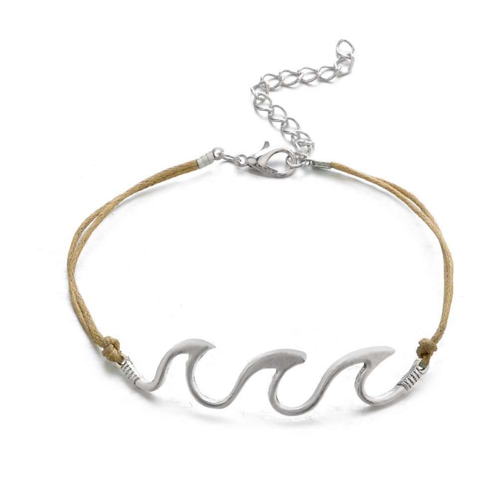 Bohopan Модные Винтажные браслеты на лодыжке для мужчин двойная оболочка слоя бижутерия для ног высокое качество пляжные каникулы серебряный цвет ножные браслеты