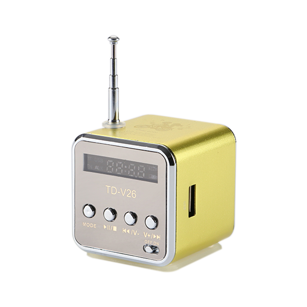 Vapeonly FM Radio Speaker Portable Mini USB Stereo Speakers Digital LCD Music Player Support TF Card Loudspeaker for Phone PC