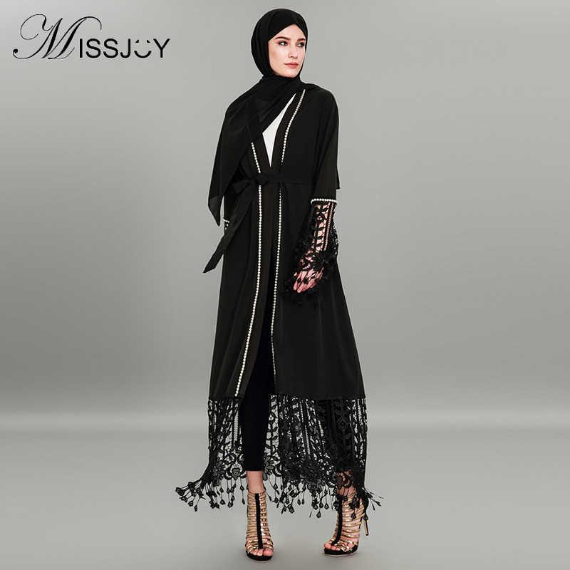 MISSJOY Muslim plus size 4XL Abayas for Women Dubai Kaftan Long Kimono Robe  Turkish Party Dress c96867f4543d