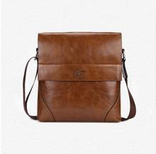 Free Shipping New High Grade PU Leather Men Messenger Bag  Zipper Shoulder Bags