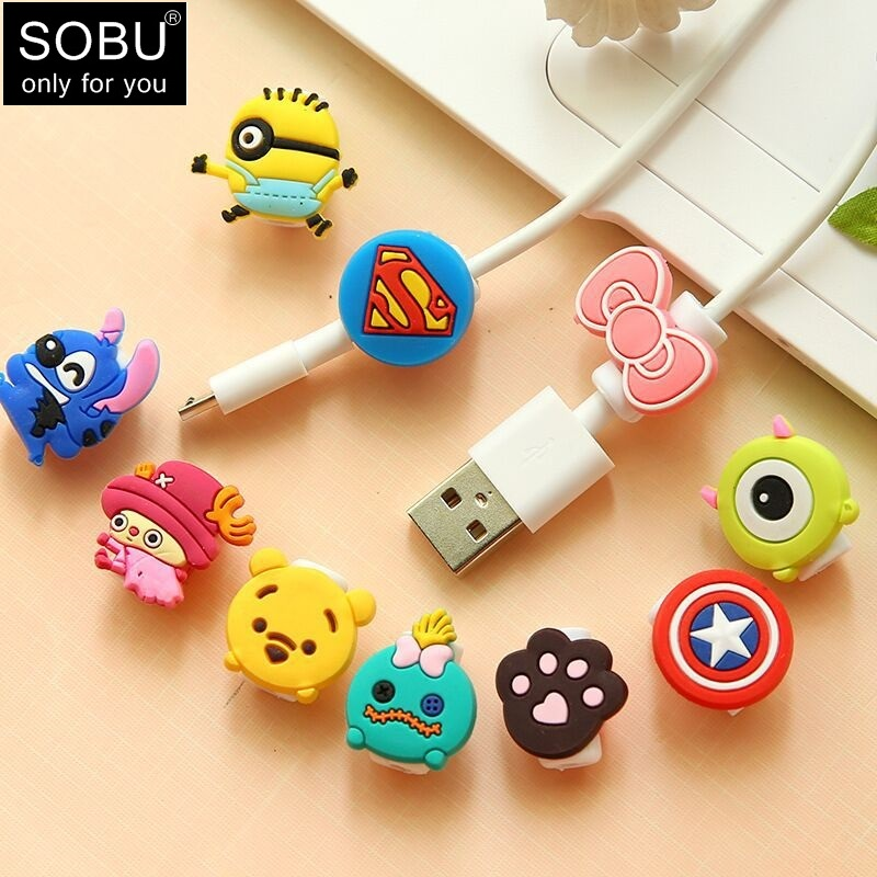 10pc Creative Travel Accessories Animals Cable Winder Earphone Protector USB Line Phone Holder Accessory Packing Organizers H110