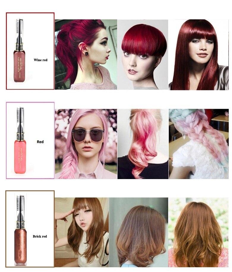 3-dijelna boja za kosu i TOUCH-UP maskara-za-kosu 12 boja netoksična - Njega kose i styling - Foto 5