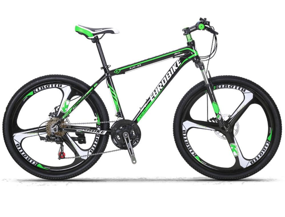 Ac0300009l peut frein à disque en alliage d'aluminium un vélo de pays de montagne 26 pouces 21 vitesses en alliage de magnésium trois couteau une roue X3