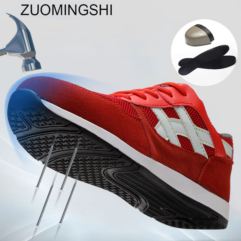 Men's Work Safety Shoes Steel Toe bot men Breathable Safety Boots Men Protective Footwear Safety Sneakers Big Size