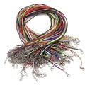 10 Pcs/lot Real Leather MIX COLOR Chains Necklace String Charms Findings String Cord 1.5 mm Wire jewelry findings