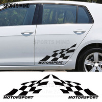 1 Pair SPORTS MIND MOTORSPORT Waterproof vinyl reflective Car Styling Car door sticker Decal exterior accessories For All car