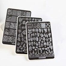 ZJOY-PLUS большой шаблон Ловец снов Геометрические Животные цветочный шаблон дизайн ногтей отполированные выштампованные Листы 3D Трафарет для ногтей штамп