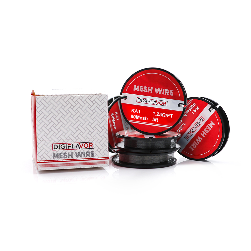 Original Digiflavor Mesh wire electronic cigarette mesh wire KA1 Ni80 SS316 mesh coils for mesh RDTA RTA tank DIY vaporizer inconel 718 nickel alloy wire mesh 10 mesh for nuclear engineering 500mmx1000mm made to order